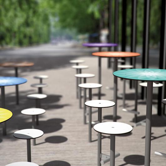 Raised Outdoor Table - Bistrot / mmcité