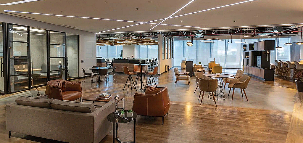 Sistema de iluminação sem fio Vive nos escritórios Sekura