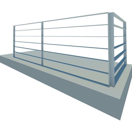 Baranda de acero - Habitacional 1.0 / AZA