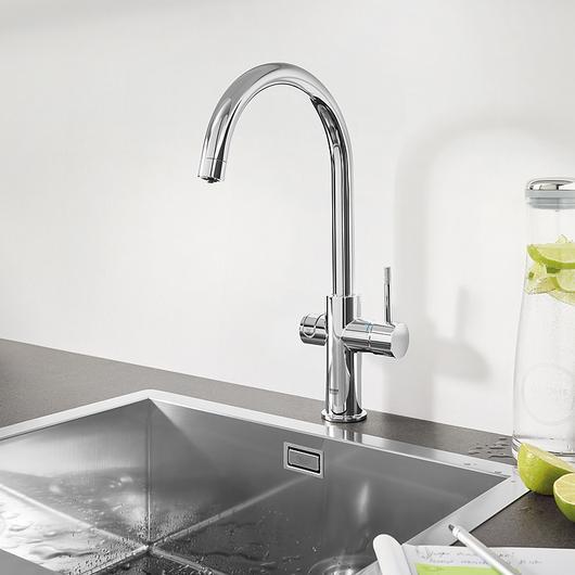 Sink Mixer - Blue Pro C-Spout