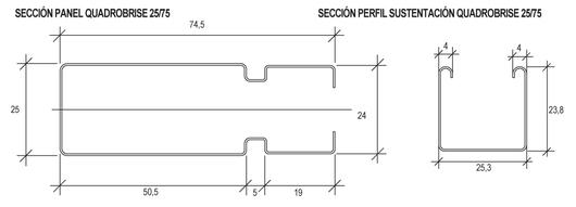 Cortasoles Lineales Quadrobrise 25/50 - 25/75 - Detalles del perfil