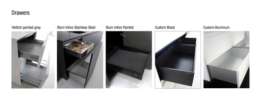 6 Drawer Options Available.