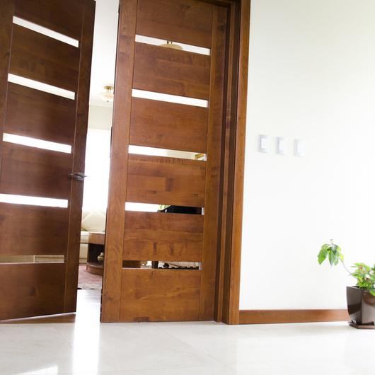 Puertas de madera s lida modernas de ignisterra Puertas en madera modernas