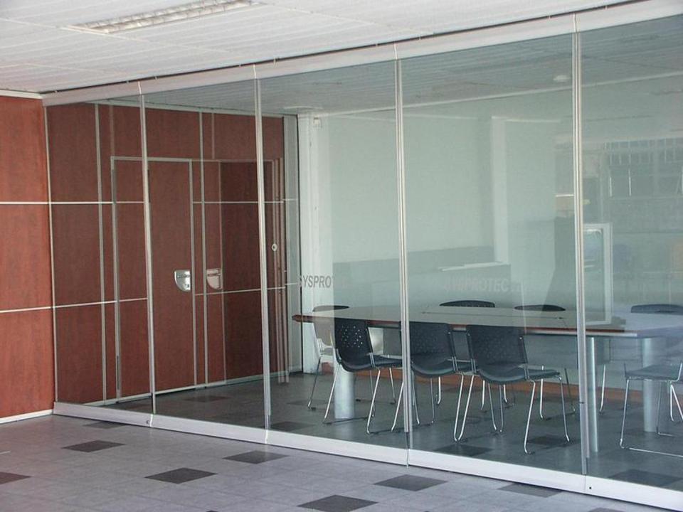 Paneles m viles de vidrio de sysprotec - Tabique de vidrio ...