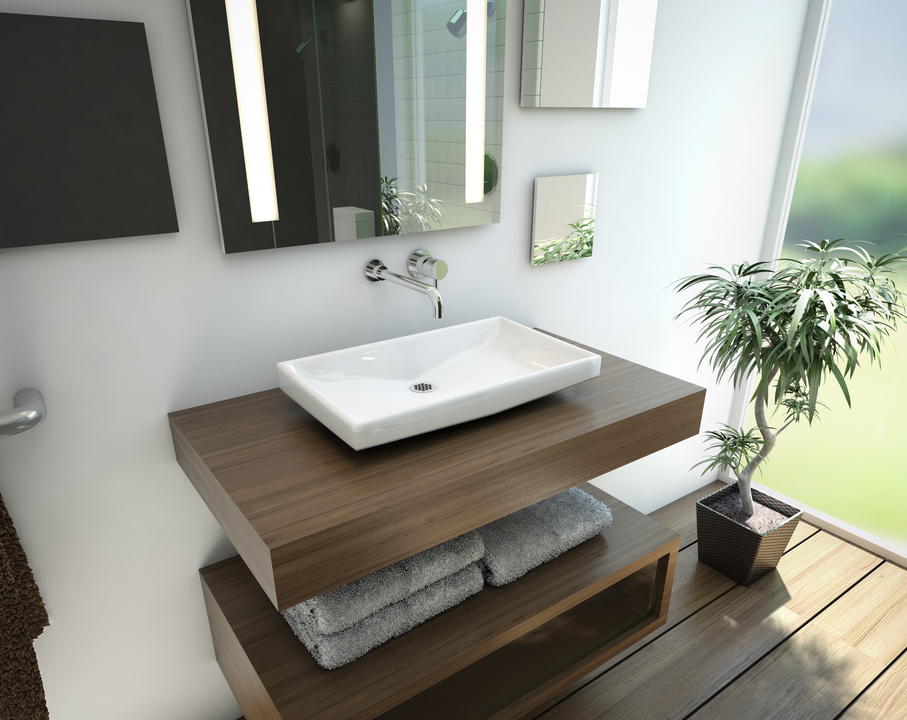 Lavabo aruba de american standard for Largeur lavabo standard