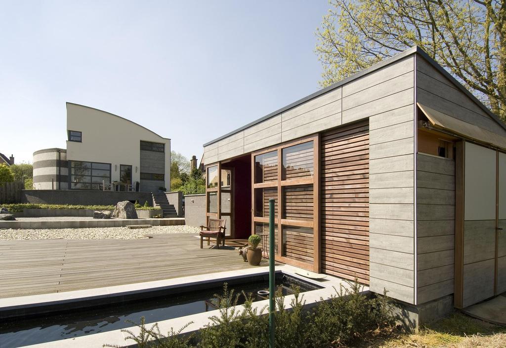 Revestimiento trespa meteon en fachadas ventiladas para - Fachadas viviendas unifamiliares ...