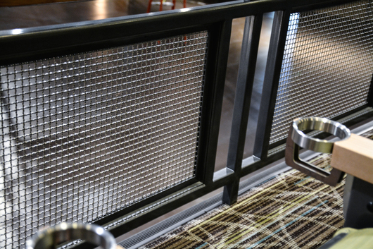 Banker Wire's S-9 Mesh in interior railing and stairways at the Club Regent Event Centre.