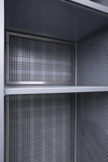 Banker Wire's M44-2 Metal Mesh in the Michigan University Locker Rooms.