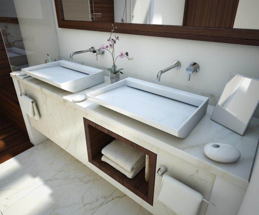 Lavabo messina de american standard for Largeur lavabo standard