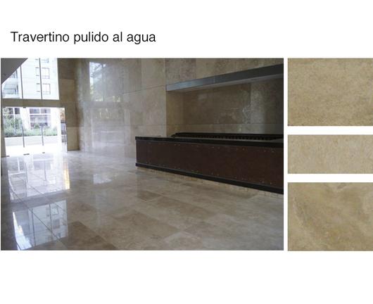 marmol travertino pulido al agua producto