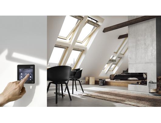 Detalle ventanas para techo inclinado - Modelo GGL | Kit de Motorización VELUX