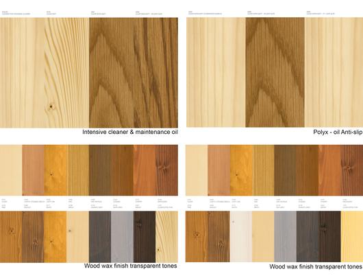 Acabado para maderas interior: colores