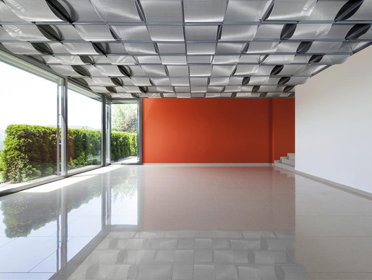 Ceiling System SUSPENSE - Ceiling Design with Architectural Mesh.