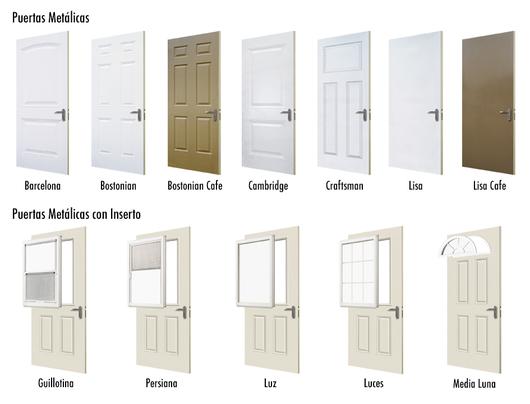 Puertas met licas de jeld wen for Modelos de puertas metalicas para exteriores