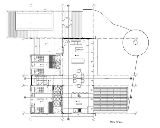 Primera planta de la vivienda de la Casa La Vega.