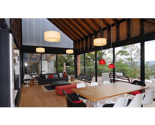 Fotografía del interior terminado de la Casa La Vega.
