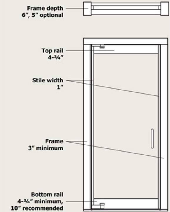 Narrow Stile Balanced Door Illustration  sc 1 st  ArchDaily : stile doors - pezcame.com