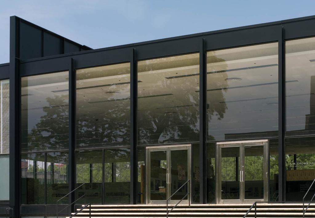 SR Crown Hall Illinois Institute of Technology - Chicago Illinois & Gallery of Metallic Doors - Formed Stainless Steel Balanced Door - 7
