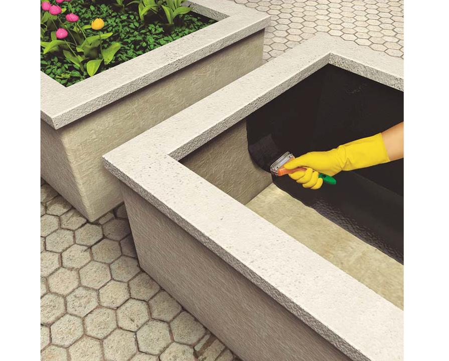 Impermeabilizaci n de estructuras enterradas y jardineras for Jardineras con bloques de hormigon