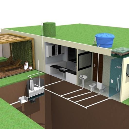 Sistema Integrado de Reciclagem de Água Urbana / Ecotelhado
