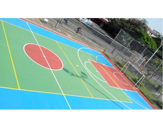 Aplicación de la linea de productos para Pisos Deportivos - Sika