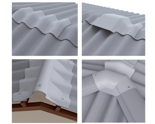 Complementos para cumbreras de las planchas de fibrocemento para cubierta Teja Ondulada 10 - Eternit