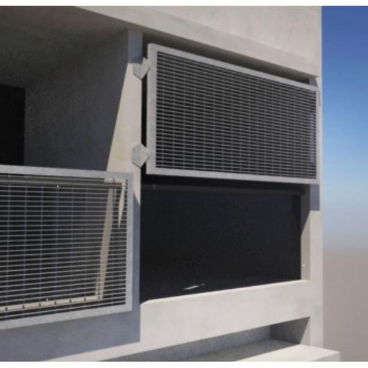 Protecciones solares con parrillas de barras y perfiles laminados / Gerdau