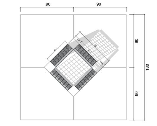 Dimensiones en planta de Canastillo - Gerdau