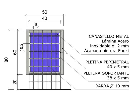 Dimensiones de basurero hecho con parrillas metálicas - Gerdau