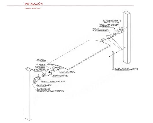 Instalación del Quiebravistas Aeroscreen Plus - Hunter Douglas
