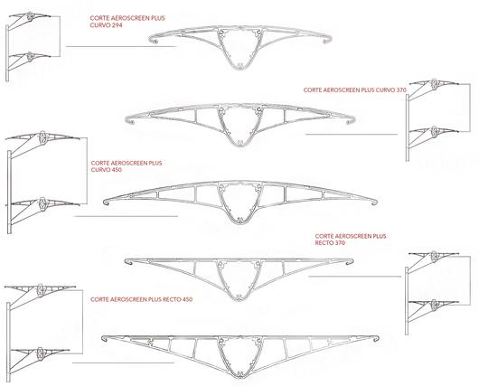 Modelos de Quiebravistas Aeroscreen Plus - Hunter Douglas