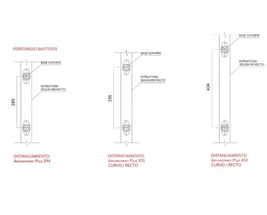 Perforaciones en la instalación del Quiebravistas Aeroscreen Plus - Hunter Douglas