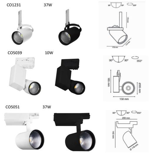 Luminaria dirigible cylinder pro de construlita - Catalogo de luminarias para interiores ...