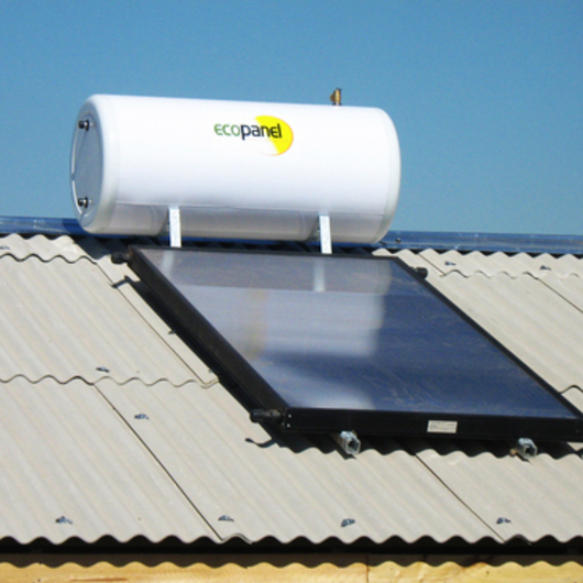 Paneles Solares sobre Placa de Fibrocemento Ondulado para Cubiertas / Pizarreño