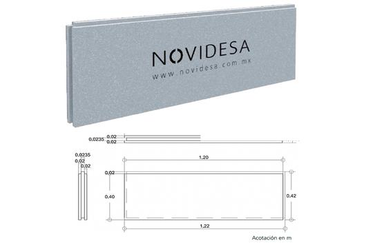 Panel aislante h16 de novidesa for Panel aislante termico