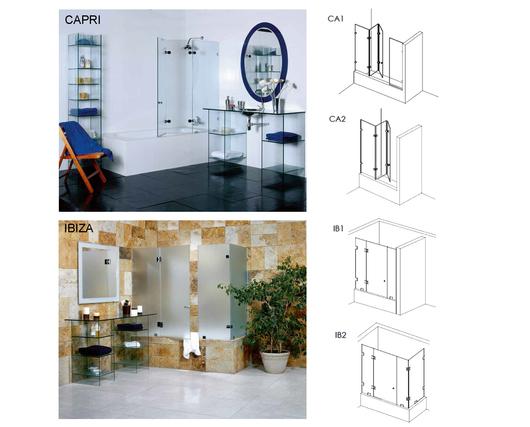 Modelos de las puertas de ducha Shower Door - Glasstech