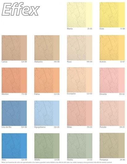 Pinturas acr licas effex piedra de comex - Gamas de colores para pintar paredes ...