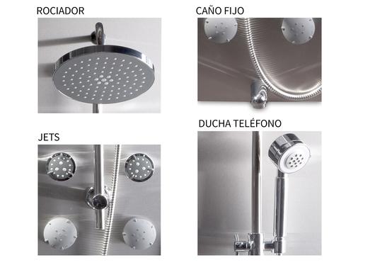 Columnas de ducha hidromasaje de chc for Piezas ducha