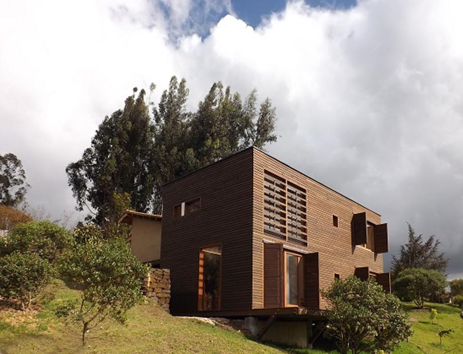 Madera Estructural en Casa Infinito