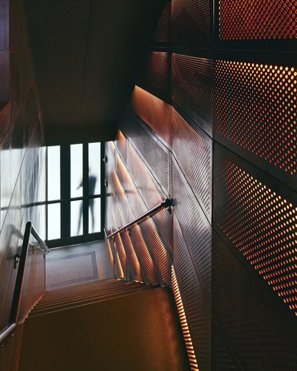 Highline Ballroom | New York, NY | custom blackened steel w/clear coat | Perforated Cassette Panels | Architect: DXA Studio