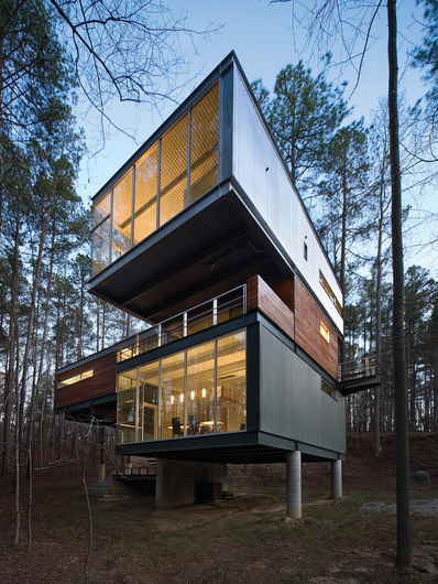 Rantilla Residence | Raleigh, NC | preweathered zinc | Sinusoidal Corrugated Panels | Architect: Michael Rantilla
