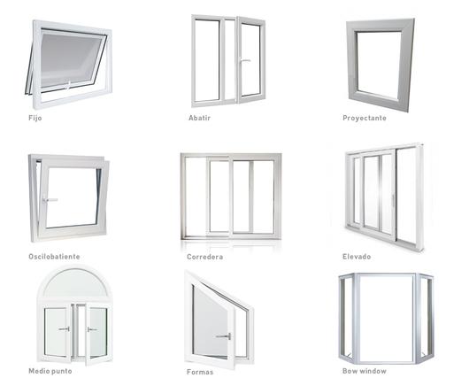 Aperturas de las puertas y ventanas de PVC - Glasstech