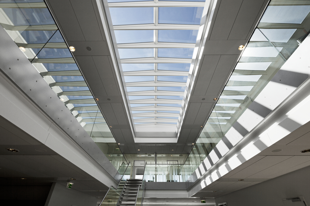 In System Skylights : Modular skylights ridgelight at ° with beam from velux