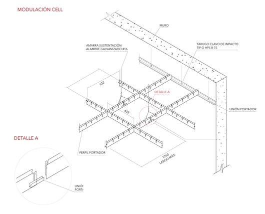 Detalle Instalación Cielo Cell - Hunter Douglas