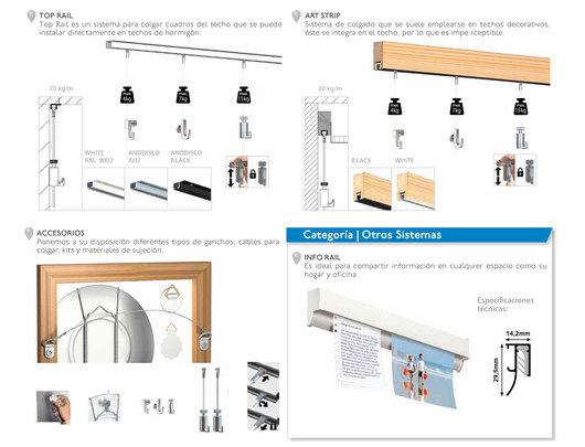 Sistemas de suspensi n para cuadros artiteq de busel - Sistemas para colgar cuadros ...