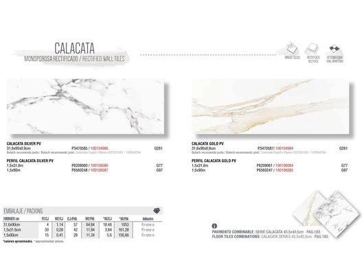 Colección Porcelanato Serie Calacata | Porcelanosa Grupo