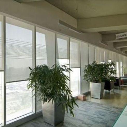 Aplicacion de Cortinas Roller Quantum en Edificio Paz Corp