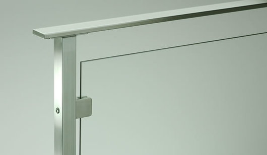 Stainless Steel Glass Railing - Glacier Flat Top Rail from ...