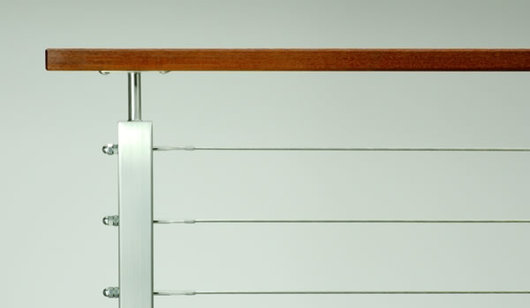 Stainless Steel Cable Railing Rainier Wood Top From Ags
