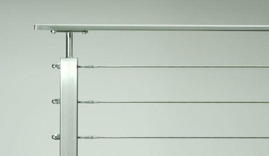 Stainless Steel Cable Railing Rainier Flat Top Rail From